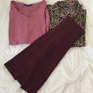 Bundle 3 pieces great for work or fall